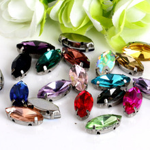 Купить с кэшбэком  4x8mm More color! Horse eye Crystal Glass Sewing Rhinestones DIY jeans woman and Wedding Dresses 30pcs