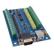 Placa controladora CNC de 5 ejes, placa USB MACH3, máquina de grabado con tarjeta controladora de movimiento paso a paso MPG