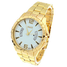 Hot selling Gold Clock Luxury Watches HIgh Quality Men Stainless Steel fashion Kors Wristwatch Relogio Masculino Quartz Watch