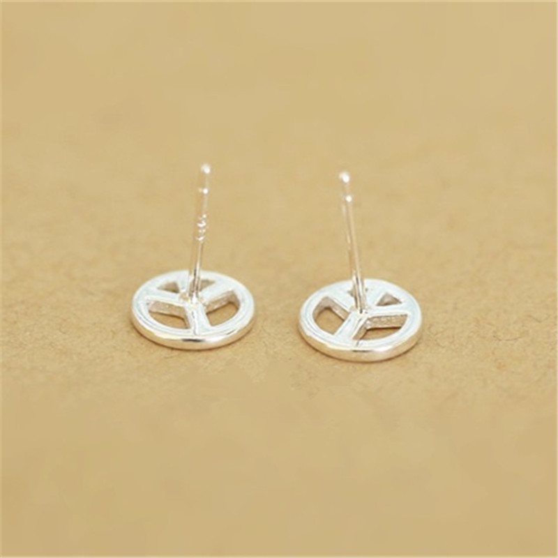 light posts peace grande stud sterling earrings years sign products silver