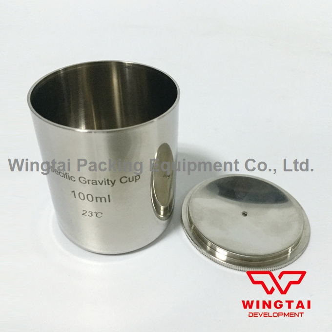 100ml/cc Stainless Steel Density Cup Capacity Specific Gravity Cup high quality 37ml stainless steel density specific gravity cups with din 53217 iso 2811 and bs 3900 a19 standard
