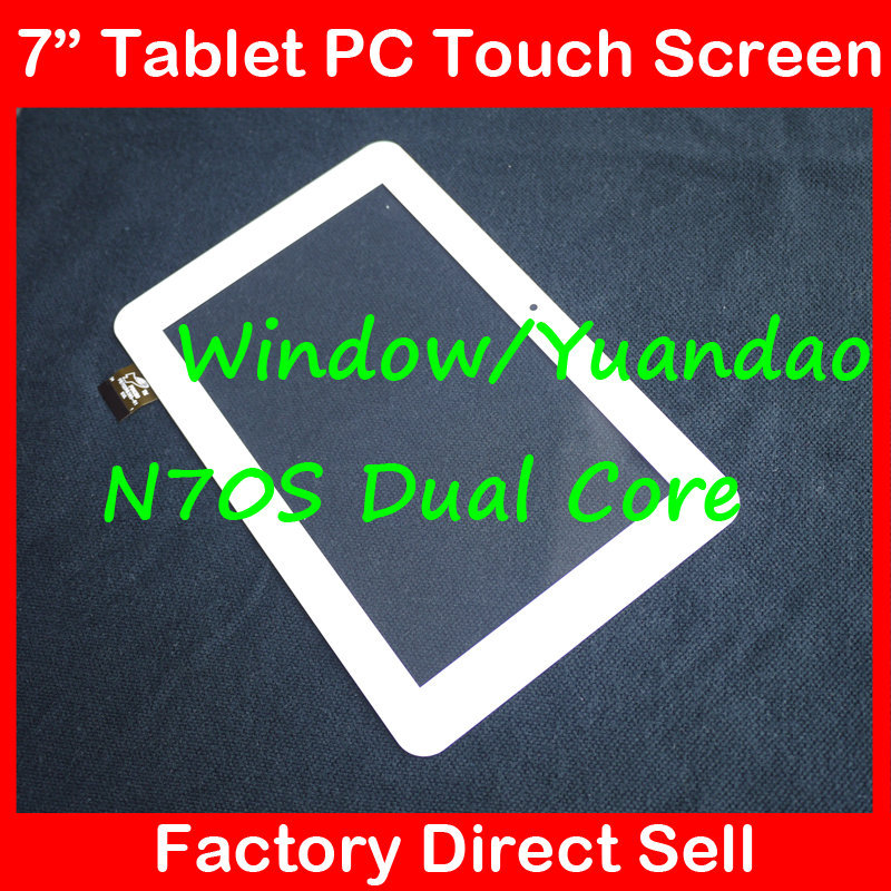 7 7Inch Capacitive Touch Screen Digitizer Glass Replacement for Window N70S Vido N70S YUANDAO VIDO N70S Dual Core white