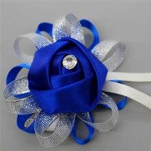 Wrist Corsages Hand Flowers Wedding decoration mariage Fashion Artificial Brides Bridesmaid Bouquet Multi Color Optional
