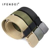 IFENDEI Designer Belts Men 2016 New Outdoor Sports Belt Military Green Nylon Canvas Belt Men S