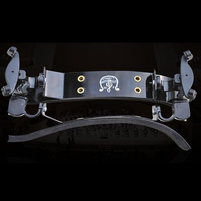 High Quality Violin 3/4-4/4 Violino German style Aluminum alloy Adjustable Shoulder Rest Pad Support Parts Accessories Fittings william 4 4 fom violin shoulder rest pad black white