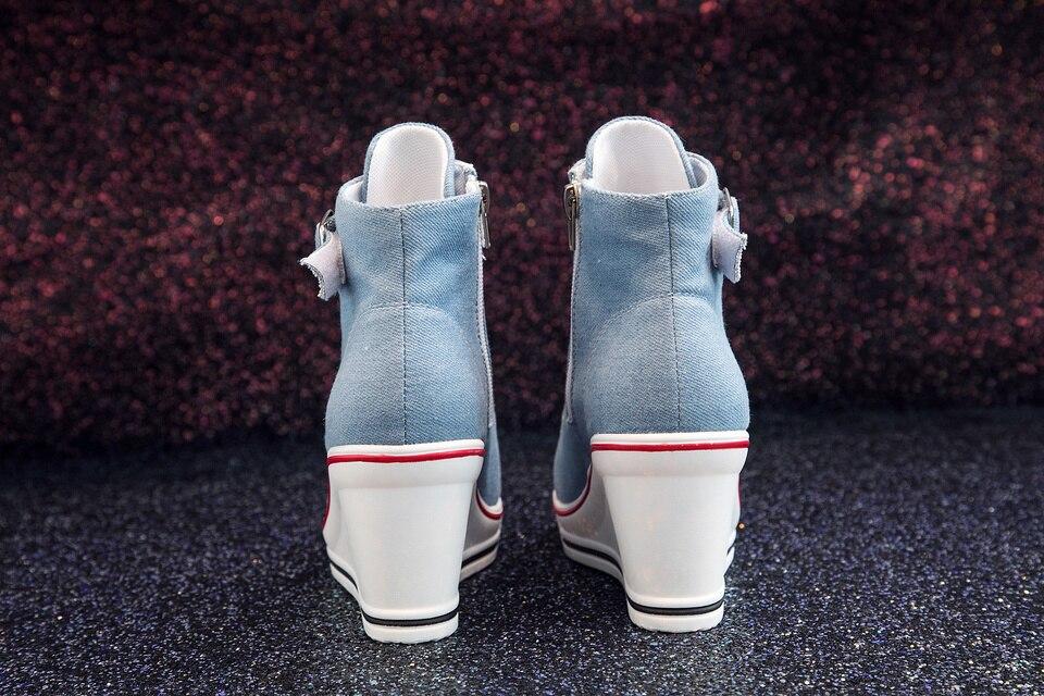 Women High Top Ladies Denim Canvas Sneakers Product Details