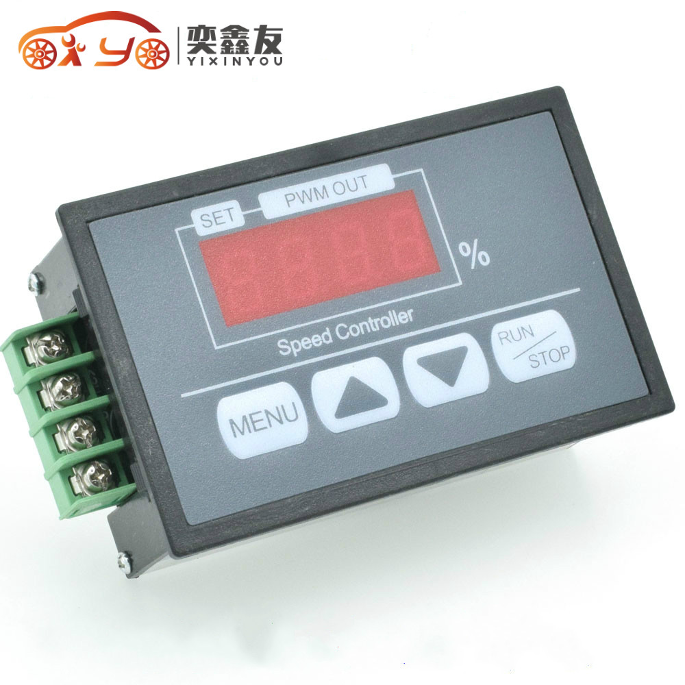 50pcs Inching Speed Governor Dc6-60v Digital Display Percentage Tachometer Dc Motor Slow Start And Stop Pwm Speed Controller 6.3 Good For Energy And The Spleen Home Improvement