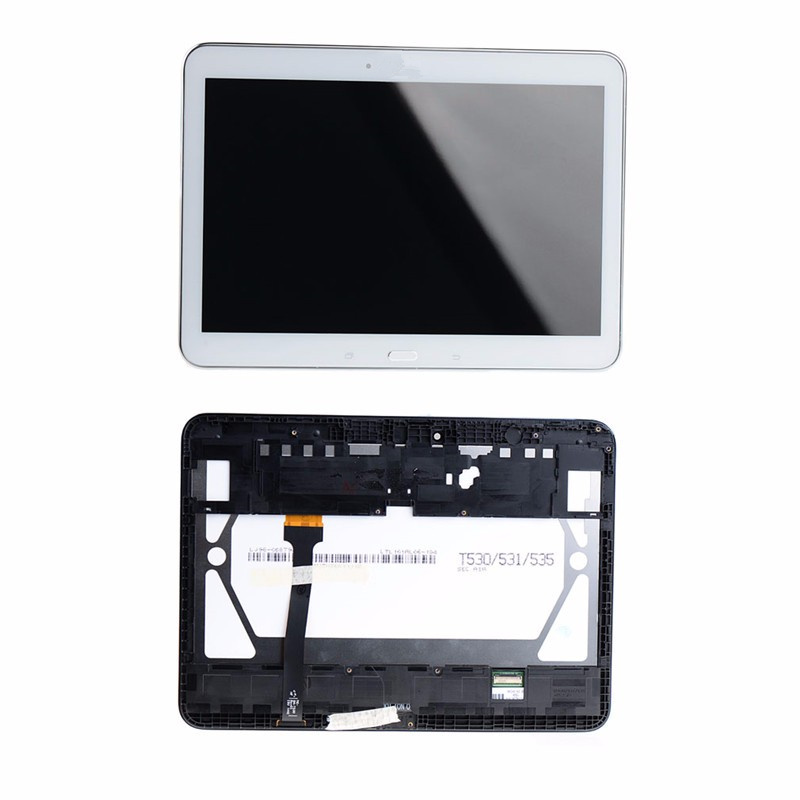 ФОТО White Black Frame + LCD Display Touch Screen For Samsung Galaxy Tab 4 10.1 SM-T530 VAK77 T18