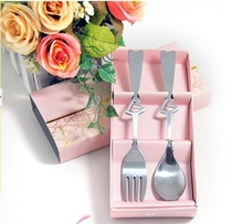 wholesale wedding gift /Valentine's Day Love Heart Spoons 2PCS Sets kitchen tools--Wedding gift
