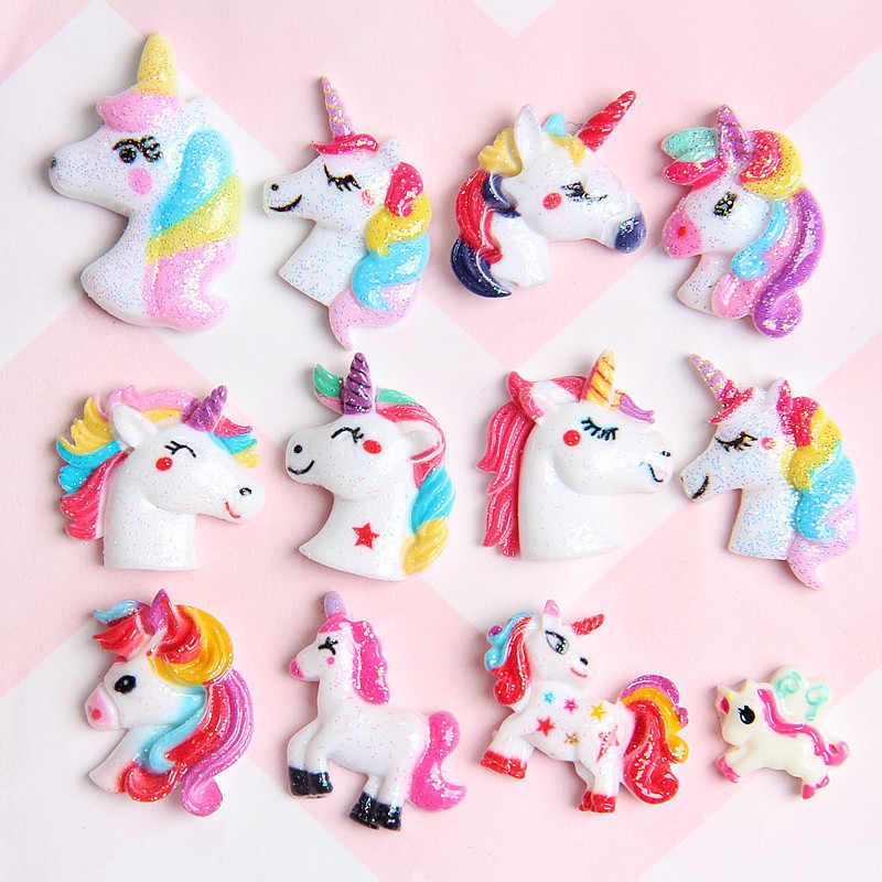 Unicorn Charms for Slime DIY Candy Polymer Bead Filler Addition Slime Accessories Toys Lizun Modeling Clay Kit for Kids Gift E