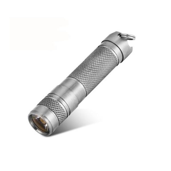 AAA Titane Alliage Aimant LED lampe de Poche Mini Porte-clés lampe de Poche XP-G2 Minuscule Avec Étanche Anneau De Rechange D'urgence lampe de Poche