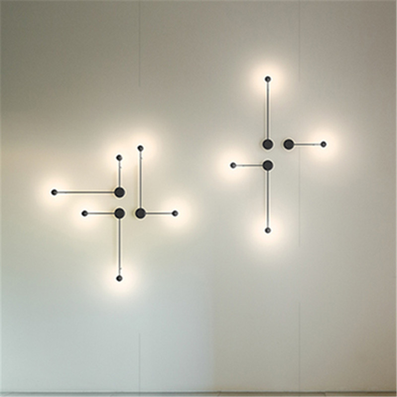 Modern LED Pin Wall Lamps Waterproof Wall Lights abajur For Bedroom Living room Wall sconces Light Fixture Lustre Lighting lamp