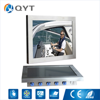 Aluminum Sensitive Touch Screen 12 Inch Intel J1900 2 0GHz Waterproof Mini Pc Ip65 Fanless Industrial