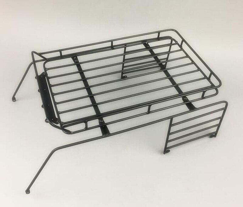 Cage à roulettes en métal avec porte-bagages pour 1/10 313mm Wrangler Rock chenille RC pièces de voiture