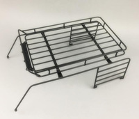 Metal Rolling Roll Cage w/ Roof Rack Luggage Tray For 1/10 313mm Wrangler Rock Crawler RC Car Parts