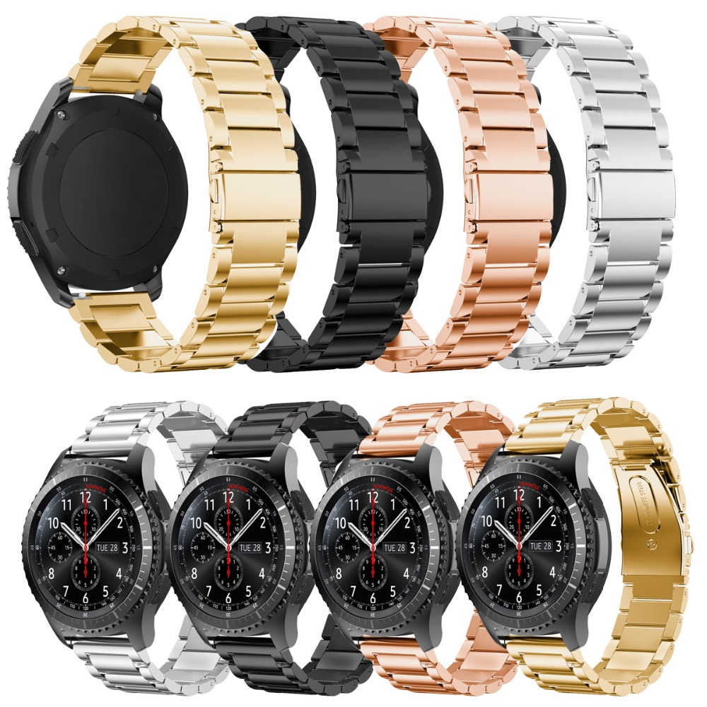 Joyozy Stainless Steel font b Watch b font Band for Samsung Gear S3 Frontier Strap for