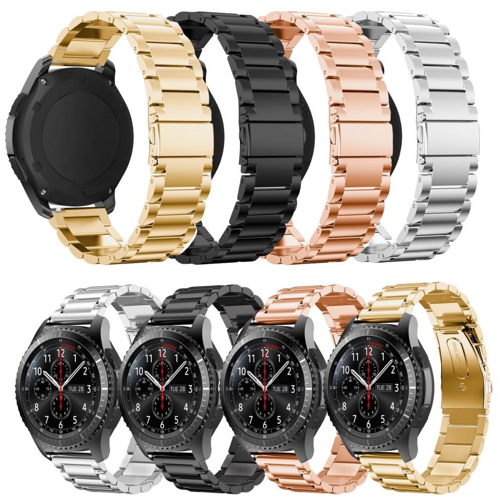 Joyozy Venda de Reloj de Acero Inoxidable para Artes de Samsung S3 Frontera correa de Engranaje S3 Clásico Elegante Reloj de Pulsera con Ajuste herramienta