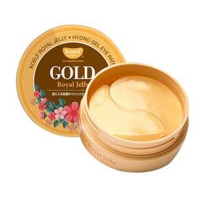 Image 1 - 最高の韓国化粧品koelfゴールド & ローヤルゼリーハイドロゲルアイマスクパッチ60個滑らかでしっかりと皮膚マスクpetitfeeサブブランド
