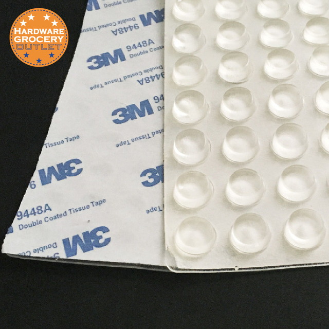 40 Pcs 12x4mm Surface Saver Plastic Adhesive Per Pads Protects Floors Furniture Non Slip Scratch