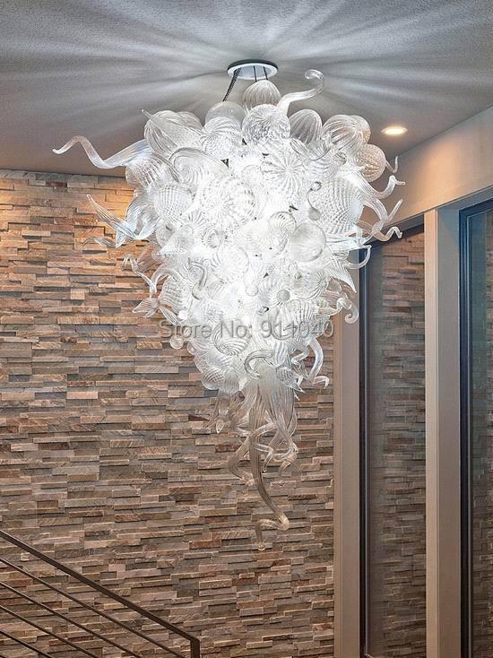 Modern Crystal Art Glass Lamp 100% Hand Blown Glass LED Crystal Chandelier Lighting  Modern Crystal Art Glass Lamp 100% Hand Blown Glass LED Crystal Chandelier Lighting