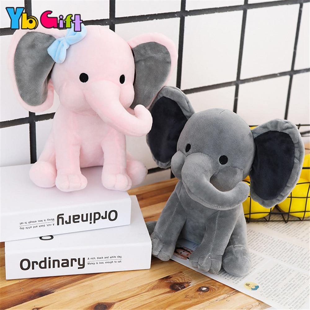 Kawaii elefante brinquedo de pelúcia calma casal bonecas de pelúcia pelúcia animal de pelúcia brinquedo de casamento crianças festa de brinquedos decoração dos miúdos presentes