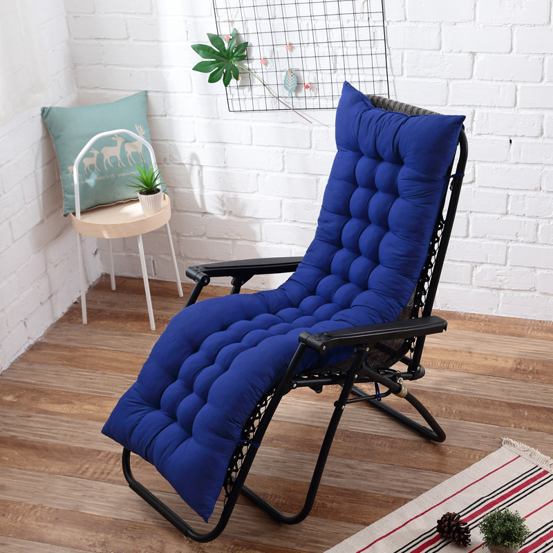 Long Cushion Reclining Chairs Foldable Rocking Chair Cushion Garden Chair Cushion Window Floor Mat Multicolor Optional