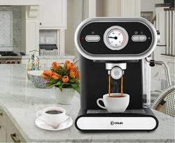 talian Coffee Machine DL-KF5002 Semi-automatic Home Visualization Full Temperature Control 20BAR Electric Espresso cafe