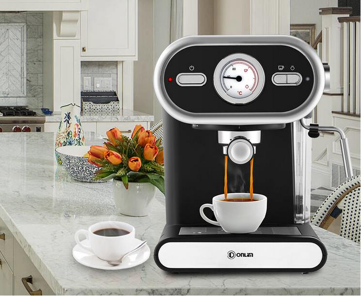 talian <font><b>Coffee</b></font> Machine DL-KF5002 Semi-automatic Home Visualization Full Temperature Control 20BAR Electric Espresso cafe image