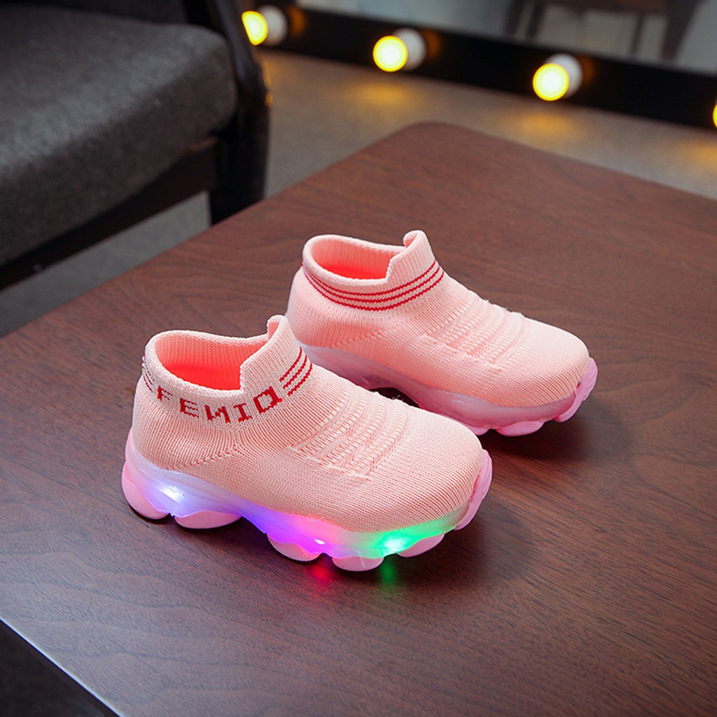 LED Letter Pattern Breathable Sneakers 6