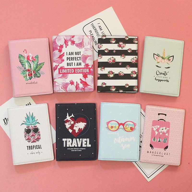 Travel High-quality Leather Passport Cover Business Women Men Card Holder Passport Holder ID Document Bag Passport Pouch