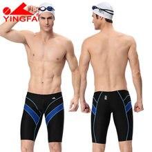 d5379bb63 Yingfa fina aprobó traje de baño hombres traje de baño niños natación  briefs hombre jammers profesional competitivo trajes de ba.
