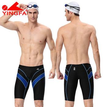 bbad0a85fcda Yingfa fina aprobó traje de baño hombres traje de baño niños natación  briefs hombre jammers profesional competitivo trajes de baño