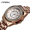 Brand Sinobi Fashion Women Watches Ladies Rose Gold Watch Diamond Relogio Feminino luxo Dress Clock Female Relojes Mujer Watches
