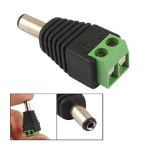 5 Packs 10 Pcs 2.1×5.5mm Male Jack DC Power Adapter for CCTV Camera