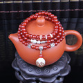 New Special Offer Natural Crystal Jewelry 6mm Onyx Beaded Bracelets With Pendant Bodhi Lotus Tibetan Buddhist Prayer Beads