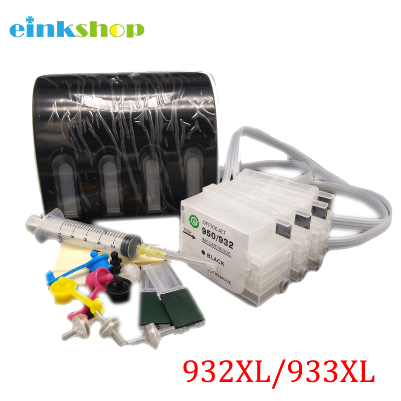 einkshop CISS For HP 932 933 Continuous Ink Supply System With ARC Chip for HP Officejet 6100 6600 6700 7110 7610 7612 Printer free shipping for hp 932 933 refillable ink cartridge with ink with permanent chips for hp officejet 6600 6700 ink jet printer
