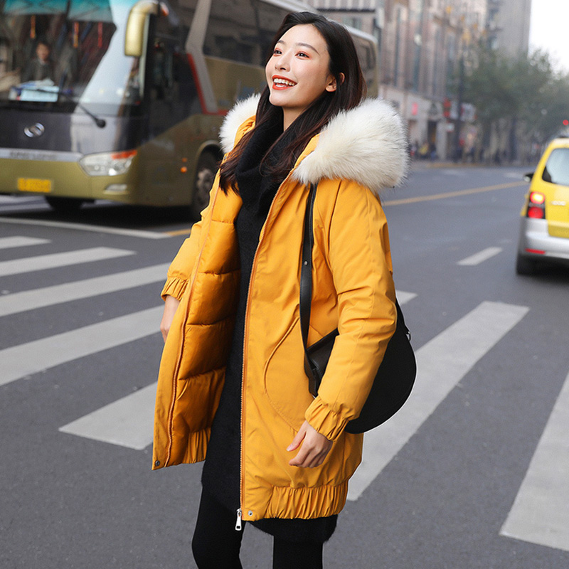Winter jackets 2019 New mid-long   parkas   coat thicken warm hooded   parkas   jacket coat female outwear coat jacket