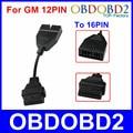 Recentes OBD/OBD2 Conector Para GM Adaptador de 12 Pinos para 16Pin Cabo Diagnóstico Para GM 12Pin GM Para Veículos