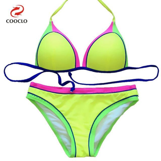 COOCLO Sexy Bikinis 2019 Patchwork Brazilian Biquinis Micro Bikini Top Beach Wear Women Swimwear Bathing Suit Female Swimsuit