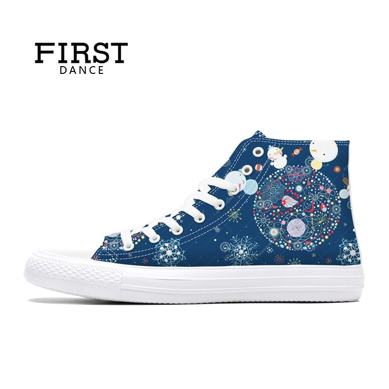 Christmas Sneakers.Us 32 15 33 Off First Dance Men Classic Canvas Christmas Shoes Casual Mens Spring Sneakers High Top Shoes Man Breathable Casual Brand Shoes Man In