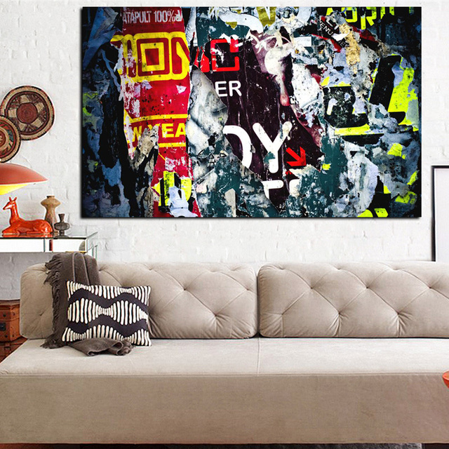 2017 hd print abstract graffiti street pop art wall abstract oil painting on canvas poster wall