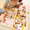 Four Bear Change Clothes Game Children S Early Teaching Toys 3d Puzzle Wooden Toys Hobbies For