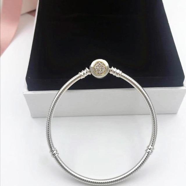 2019 NEW! Perfect Charm Carved silver chain 925 bangle pandoras bracelet women jewelry lady gift, 1pz