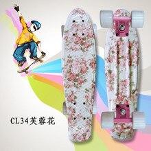 Mini Cruiser omplete di Skateboard A Quattro ruote Skate board per adulti e bambini piccoli da skateboard peny Bordo di banana Bordo Lungo
