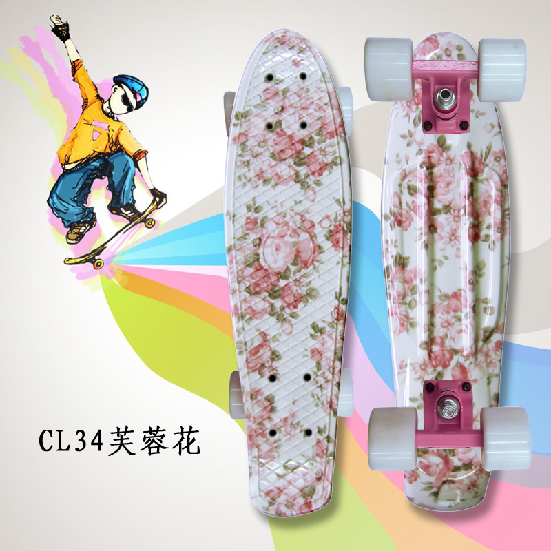 Mini Cruiser Omplete Skateboard Four Wheel Skate Board Adult&children Small Skateboarding Peny Board Banana Long Board