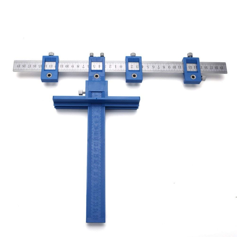 Drill Guide Sleeve Cabinet Hardware Jig Drawer Pull Jig Wood Drilling Dowelling Hole Saw Master Cabinet hardware Jig все цены