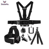 SnowHu For Gopro Hero Accessories Set Octopus Tripod Chest Band Mount For Go Pro Hero 6