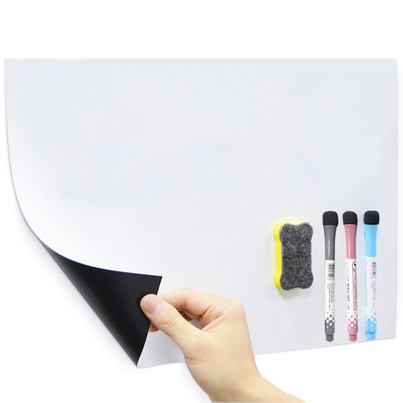 Erasable Magnetic Whiteboard On The Fridge Notice Chalk Marker White Board Magnet Planner Drawing Writing Whitebord For Children