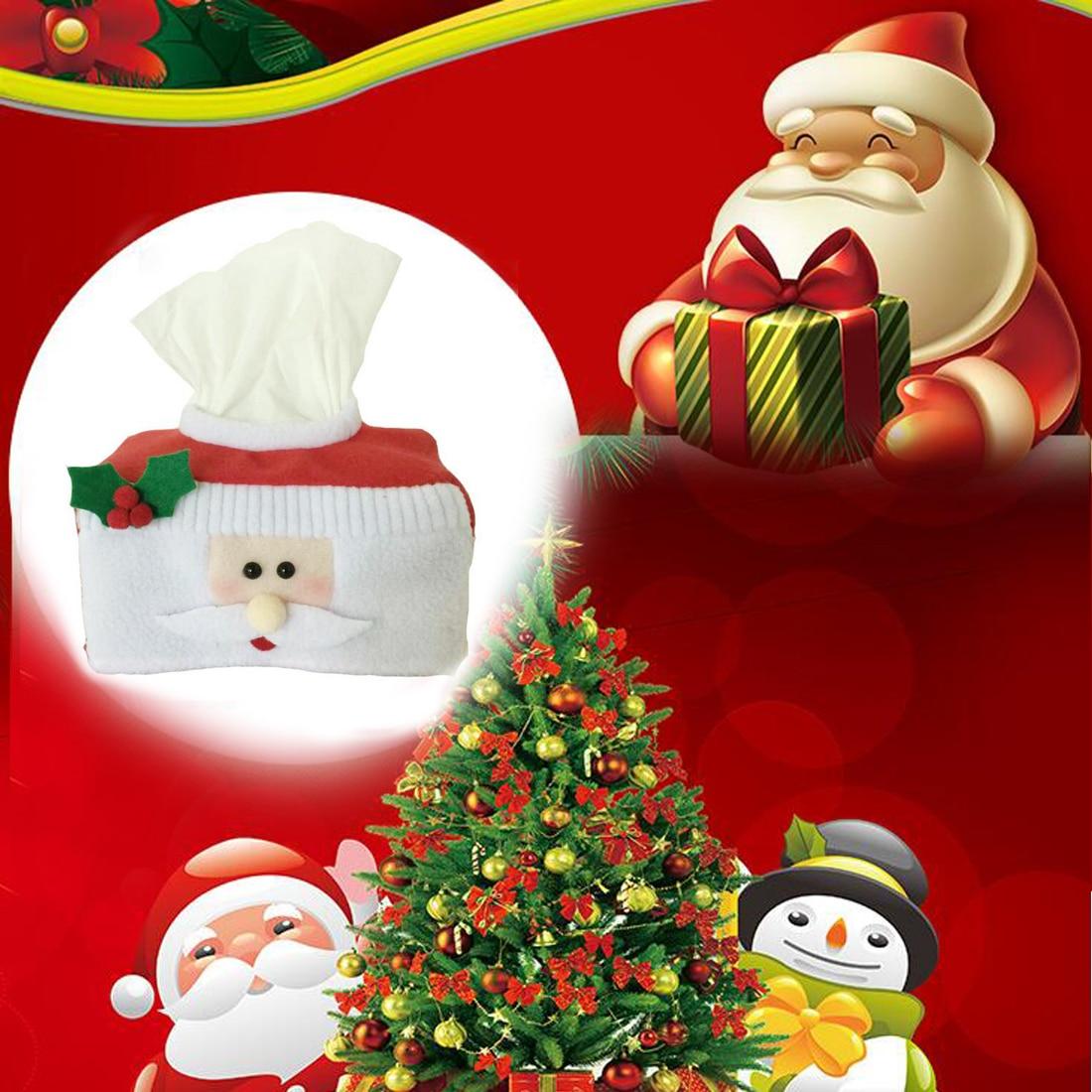 Cute santa claus towel christmas decor - Christmas Style Santa Claus Belt Felt Tissue Box Case Holder Home Decoration Vintage Creative Napkin Holder For Paper Towels
