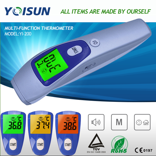 Baby/Adult Electronic Digital Multi-Function Medical IR Termometro Non Contact Forehead Body Infrared Thermometer YI-200